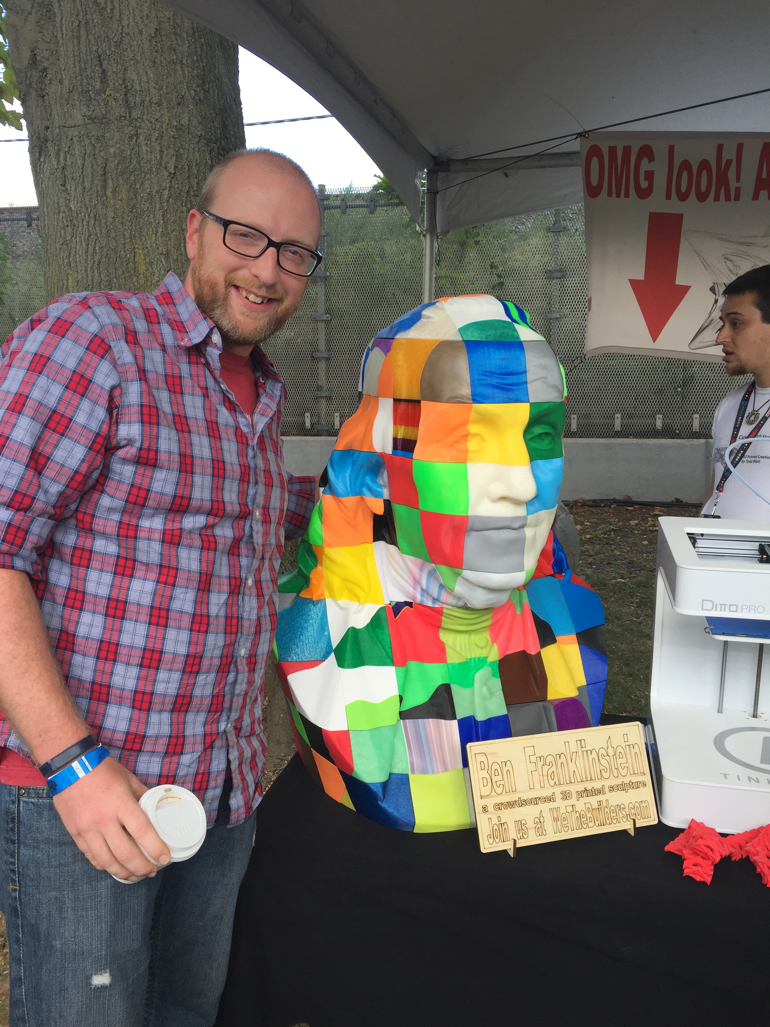 """Two of the blocks in """"Ben Franklinstein"""" were printed on our own 3D printers."""