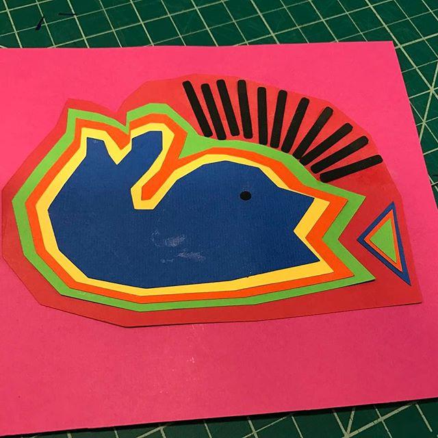First cricut design - inspired by Mola art.