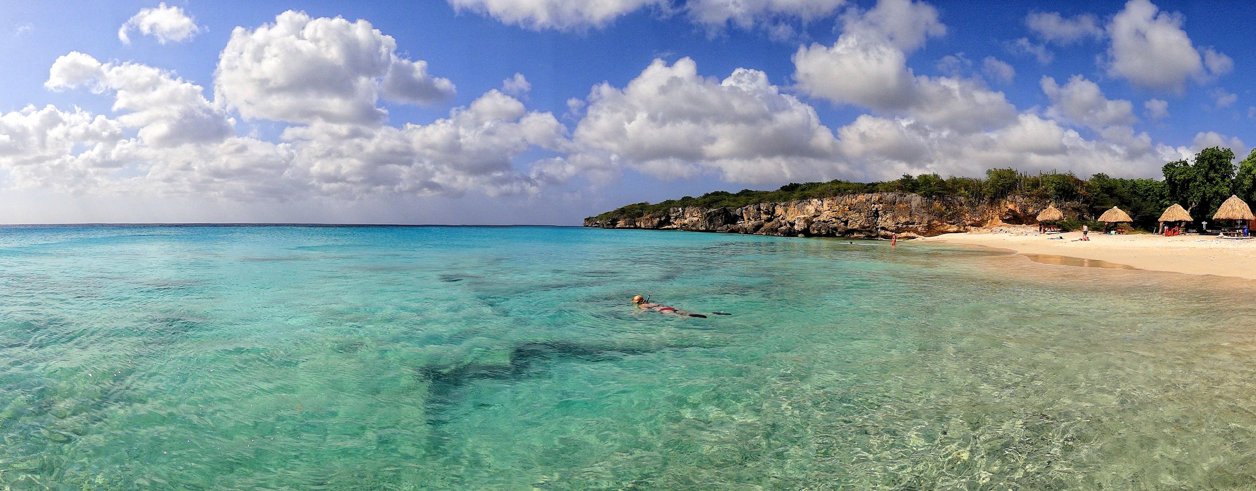 snorkeling at grote knip beach curacao