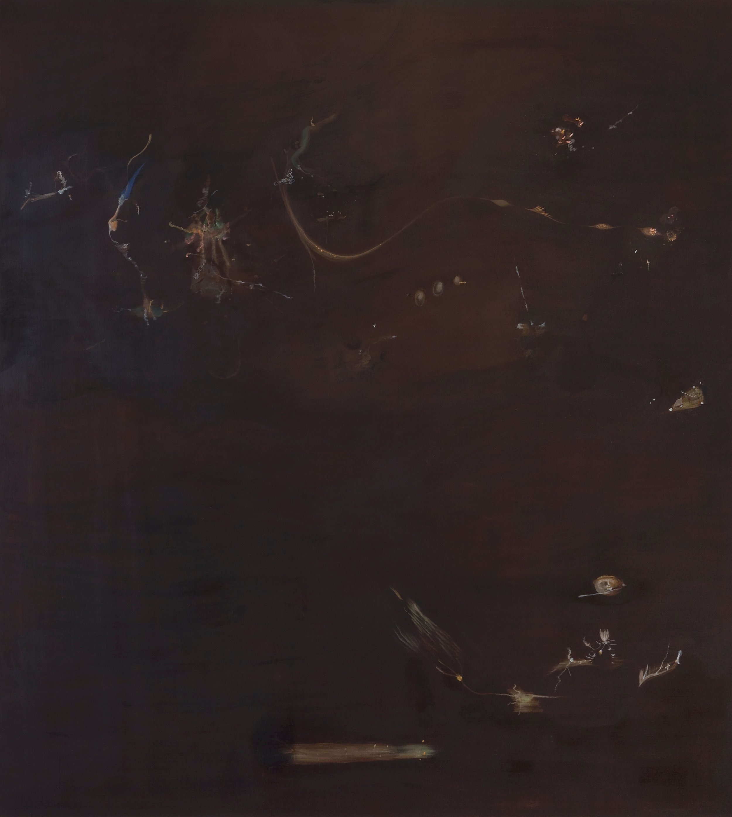 Anthrosol 180x160cm/tempera på lerret