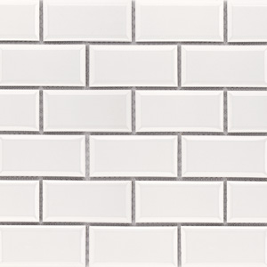 Beveled Brick White