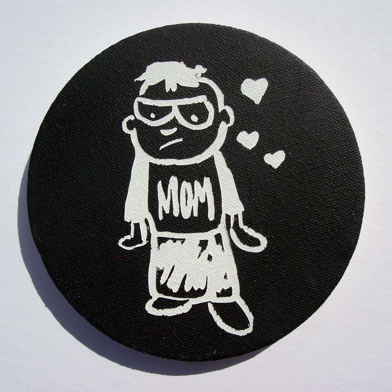 Love Mom (Black)
