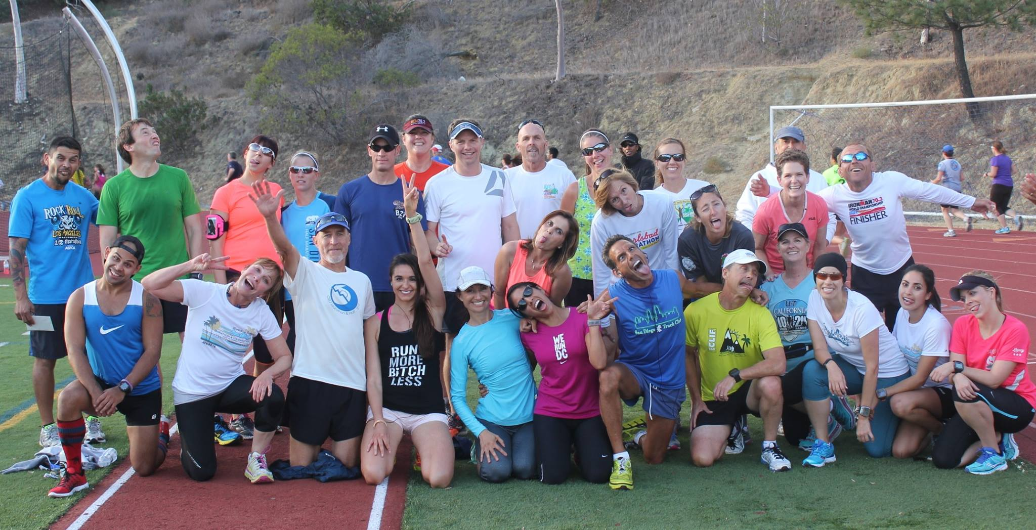 San Diego Track Club group that went to Mountains 2 Beach Marathon. Tapering made us psychos.
