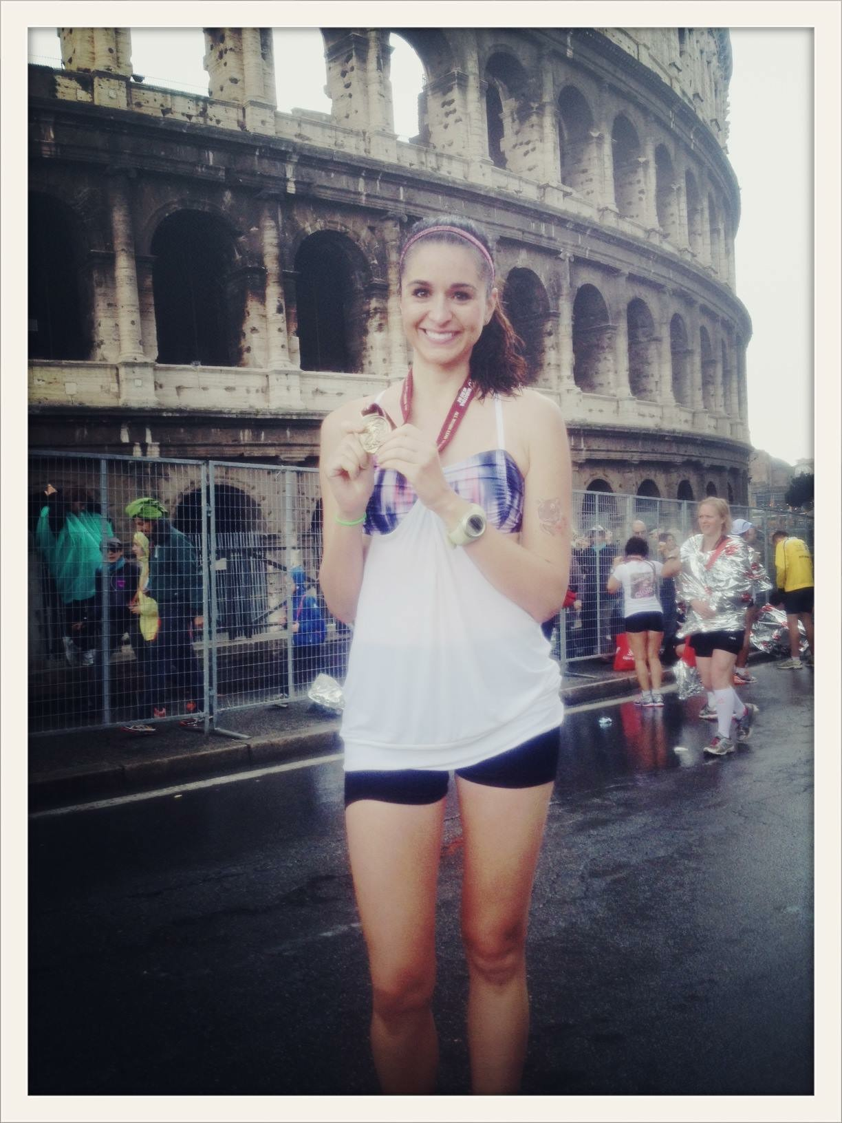 Marathon #1 of 6 in 23 month: MARATONA DI ROMA (absolutely the most scenic race. SO special. also SO SO rainy & cold.)