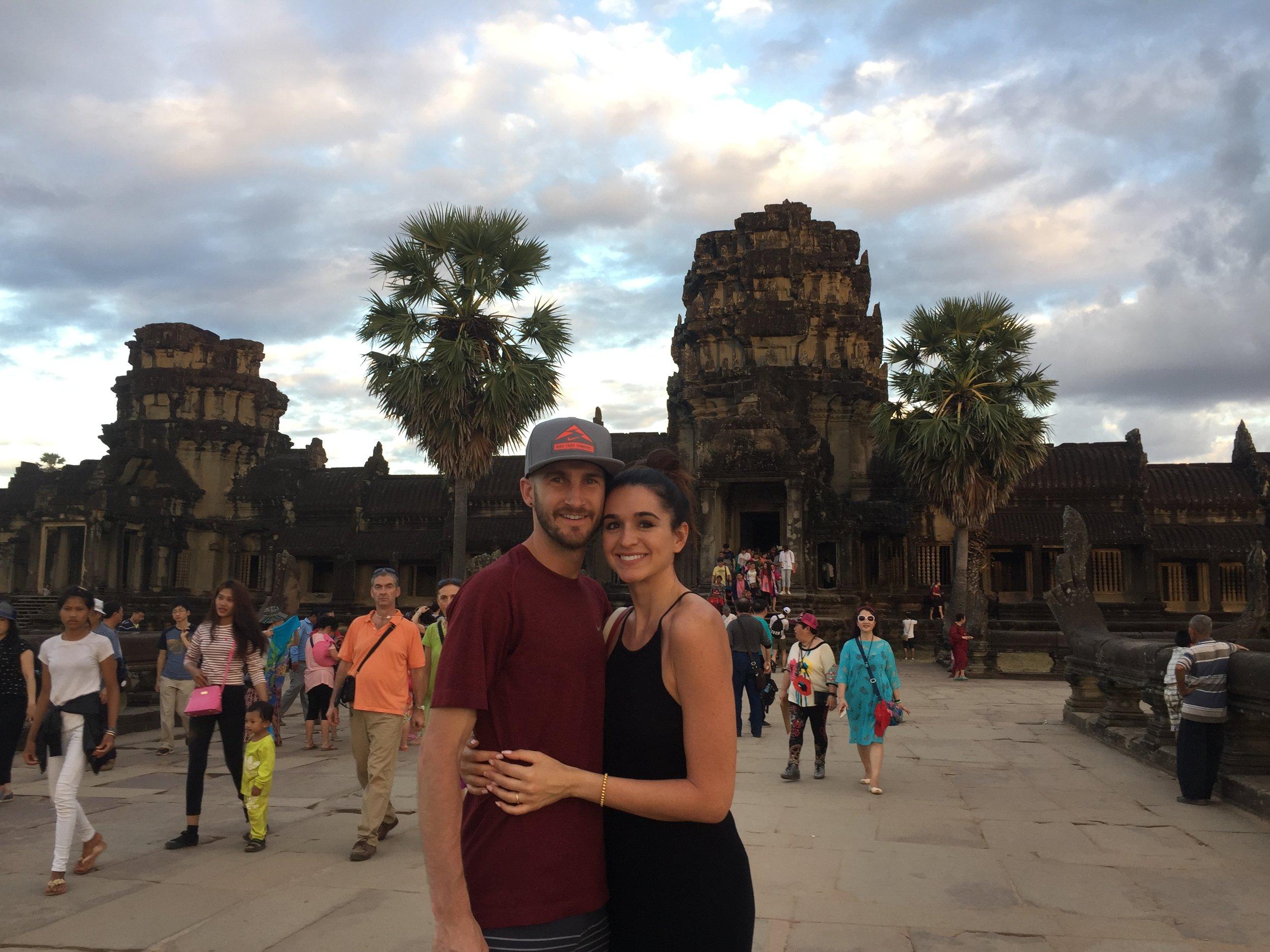 Sunset at Angkor Wat = MAGICCCCC.
