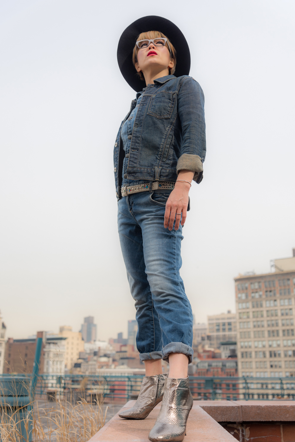 ROCK MAMA NYC LIFESTYLE BLOG - HOW TO WE  AR DENIM ON DENIM