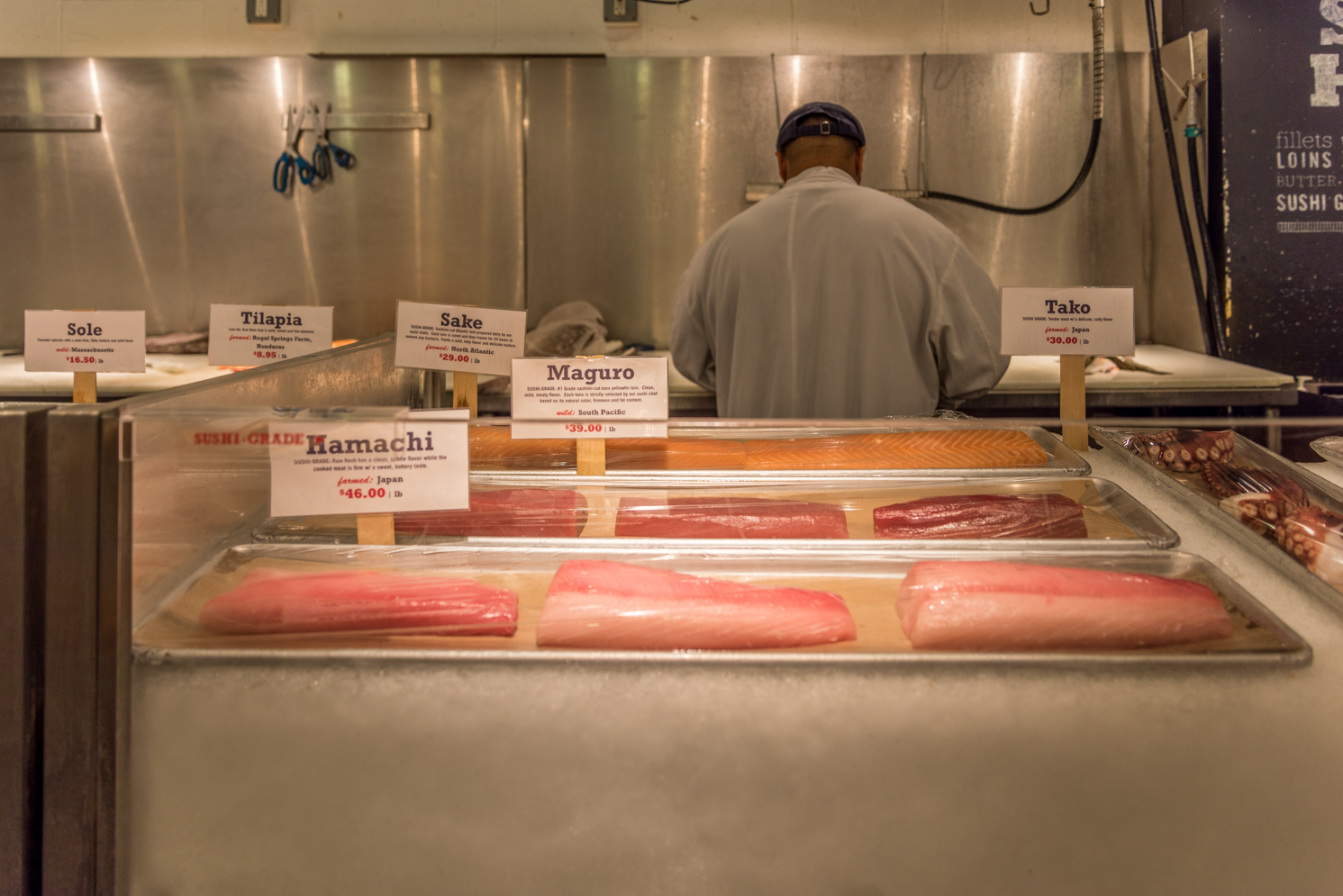 ROCK MAMA NYC LIFESTYLE BLOG - SASHIMI QUALITY FISH IN NYC - LOBSTER PLACE   AT CHELSEA MARKET