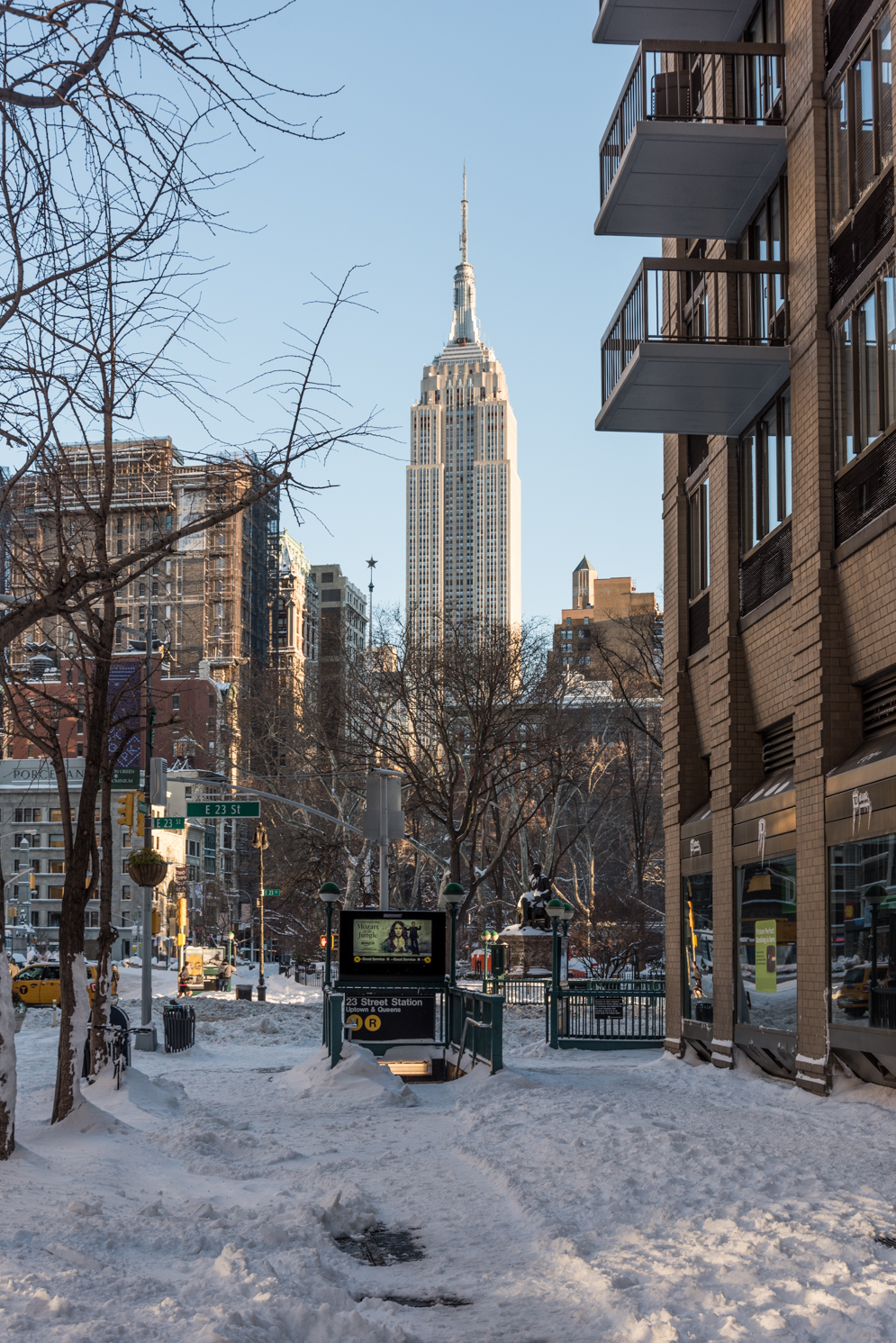 The Morning After The First Snow Storm of 2016 - NYC 1