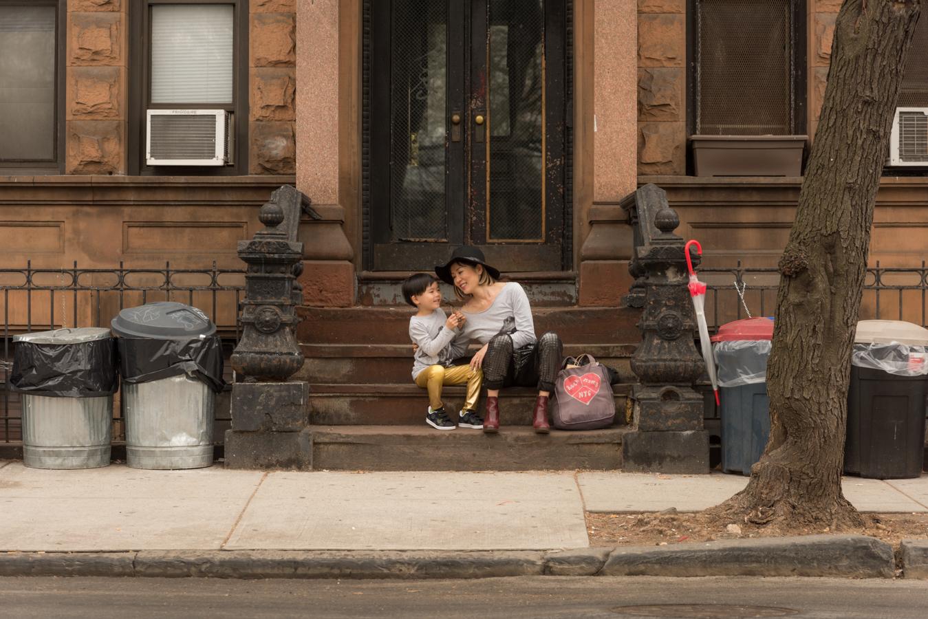ROCK MAMA NYC LIFESTYLE BLOG -  MOM AND SON MATCHING T-SHIRTS STYLING