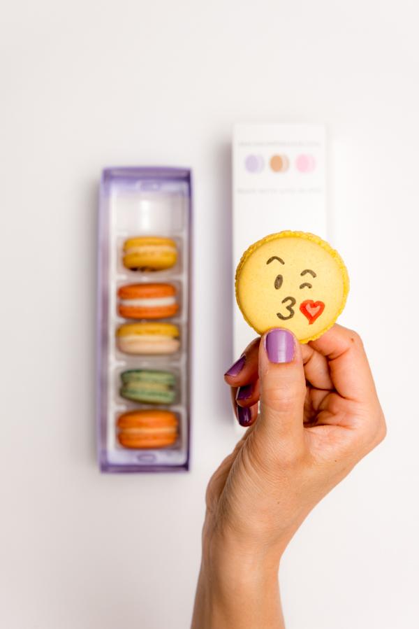 Rock Mama NYC Lifestyle blog - Emoji Macarons - Macaron Parlour