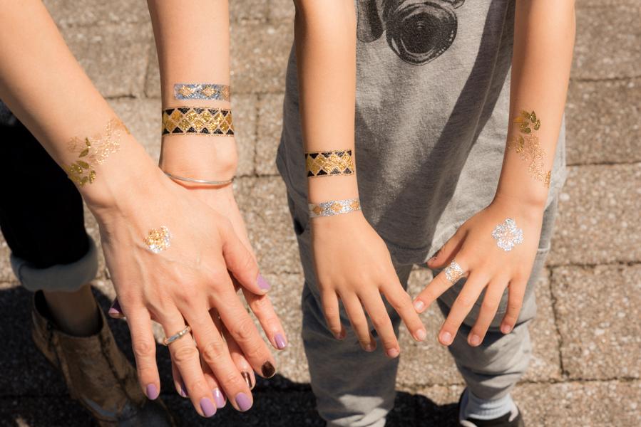 ROCK MAMA NYC LIFESTYLE BLOG - Metallic Temporary Tattoos