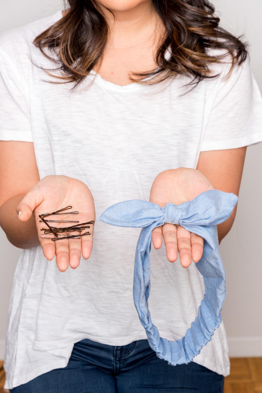How To Do An Easy Headband Updo 夏にオススメの簡単ヘアアレンジ 1