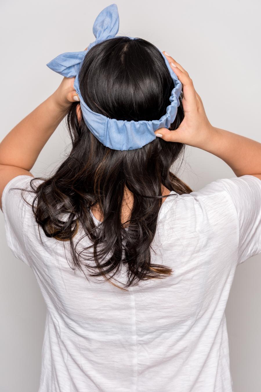 How To Do An Easy Headband Updo 夏にオススメの簡単ヘアアレンジ 2