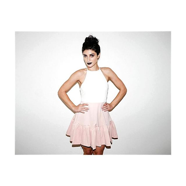 Three Floor white and pale pink lady like dress with front ruffles, $215.00 (size: m, new w/ tag) #threefloor #dress #fashion #designer #style #white #palepink #pink #lotd #ootd #lotn #ootn #whatiwore #colorblock #trends #closetrich