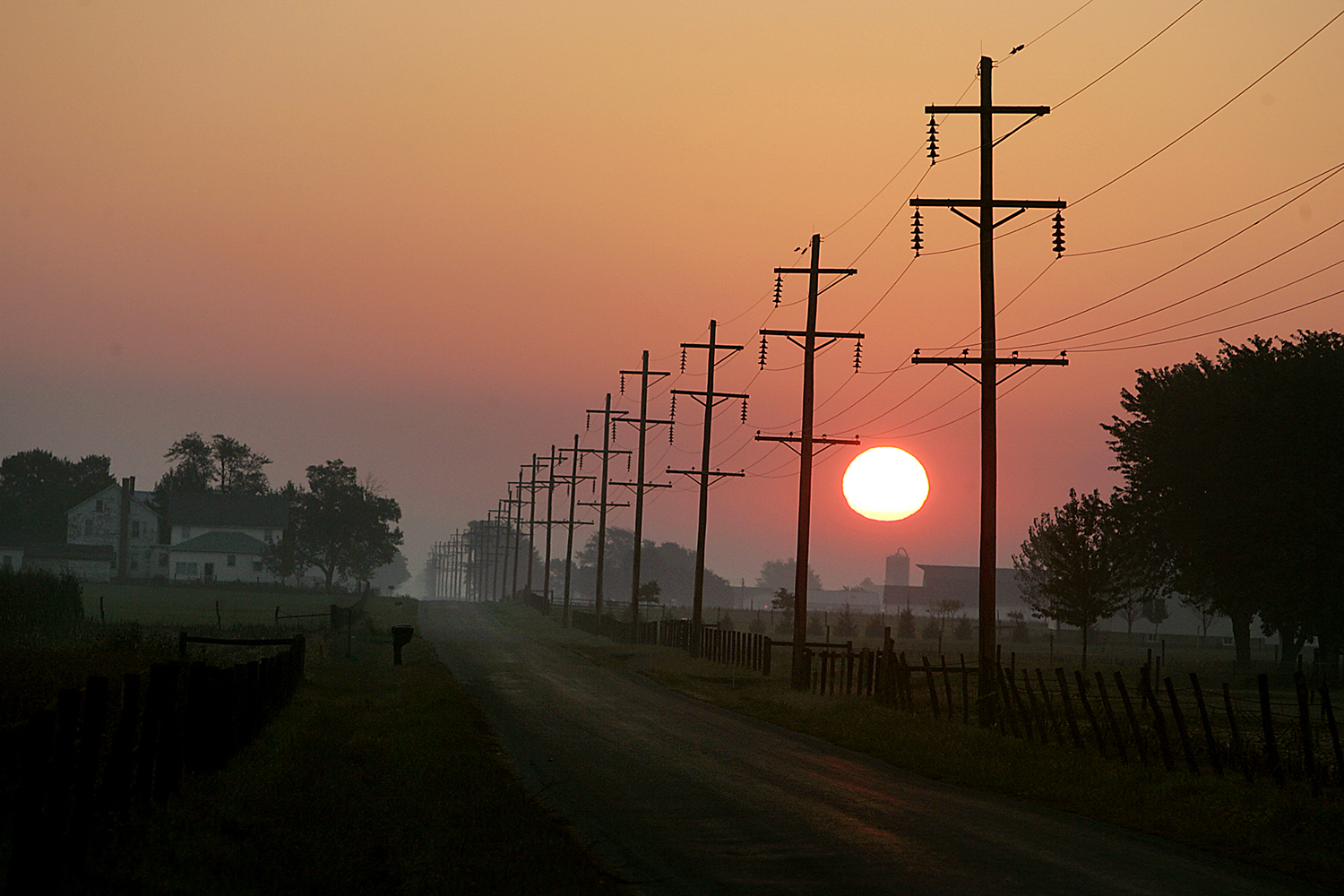The rural town of Arthur is calm at sunrise. T.J. Salsman/The State Journal-Register