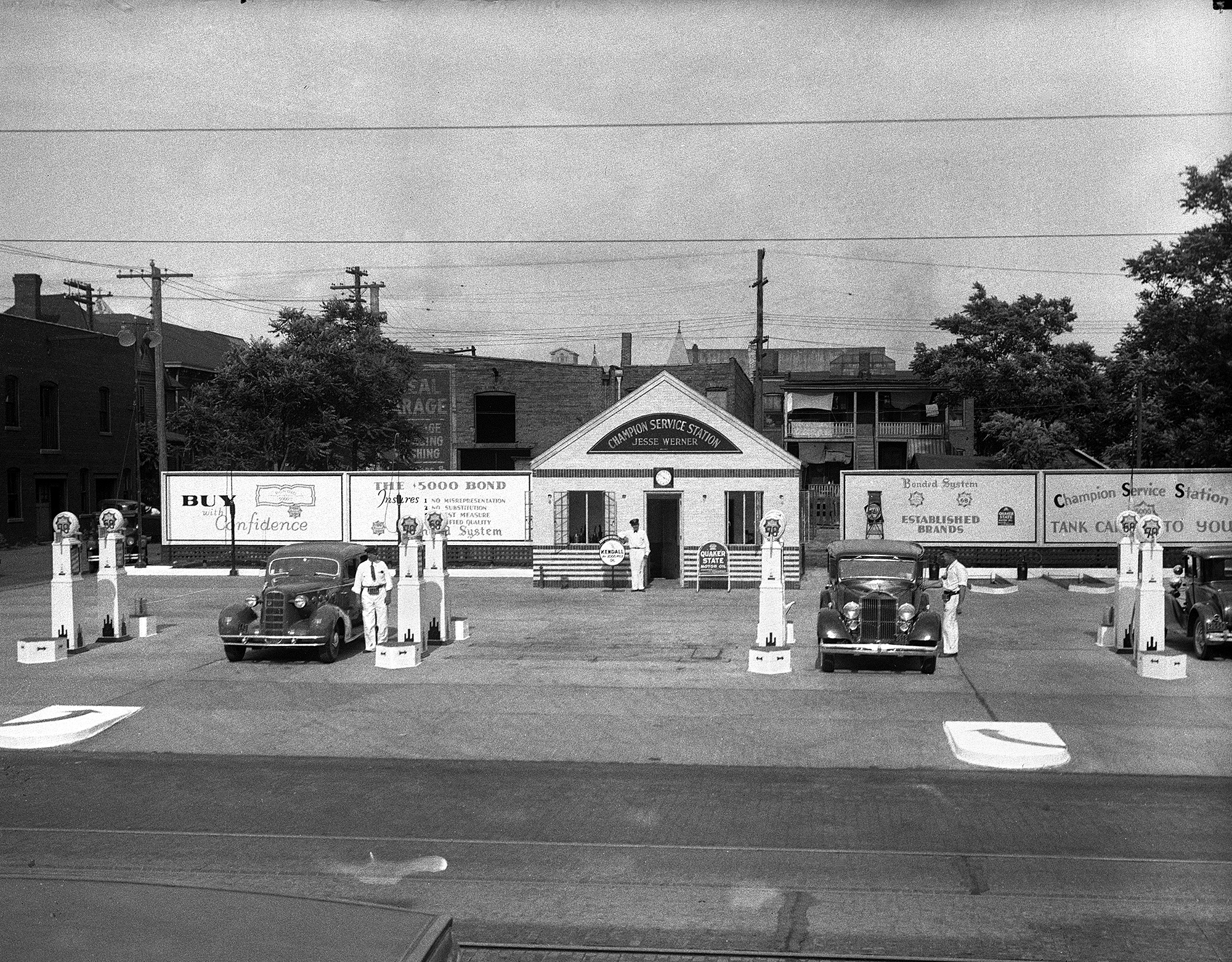 Jess Werner Champion Service Station, 1101 W. Jefferson St., circa 1930s.