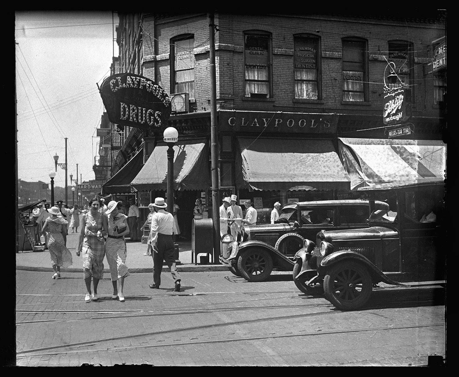 Northwest corner of Fifth Street and Capitol Avenue, Claypool's Drugstore circa 1930. File/The State Journal-Register.