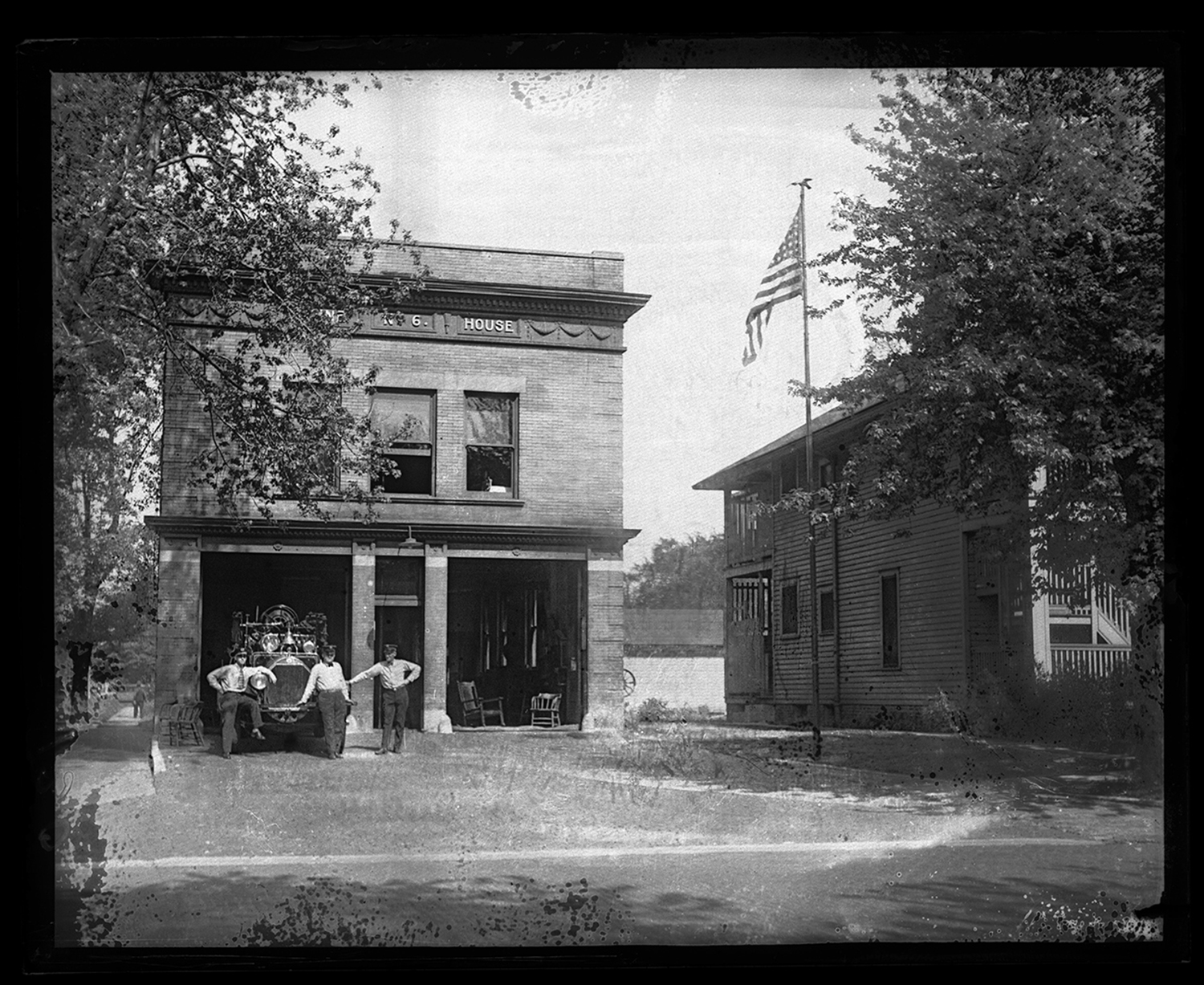 Fire engine house no. 6, 1300 S. Fourth Street. (Fourth and South Grand Ave. West, southwest corner), circa 1930. File/The State Journal-Register