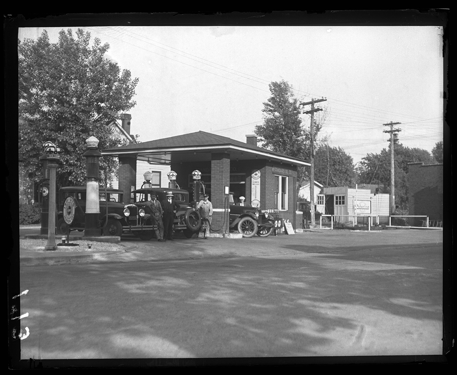 Standard Oil Company service station operated by H.C. Gordy at West Grand Avenue (now, MacArthur Blvd.) and South Grand Avenue, June 30, 1929. File/The State Journal-Register