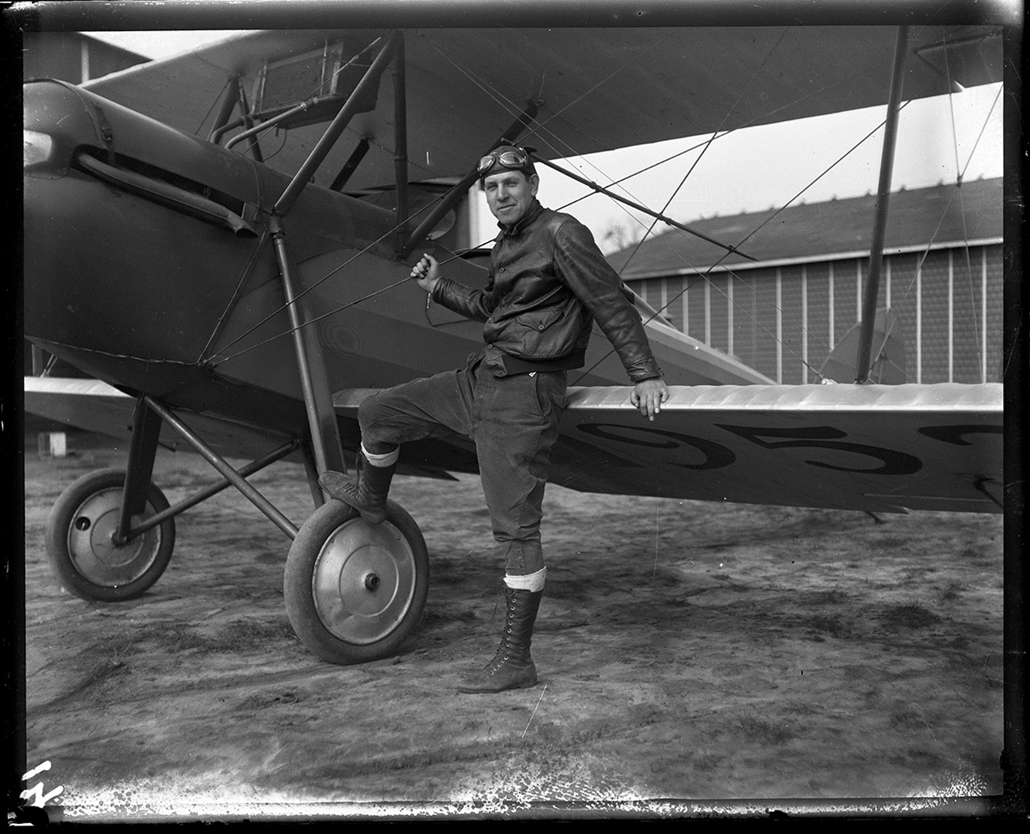 Gelder Lockwood and biplane at Southwest Airport, circa 1930. File/The State Journal-Register
