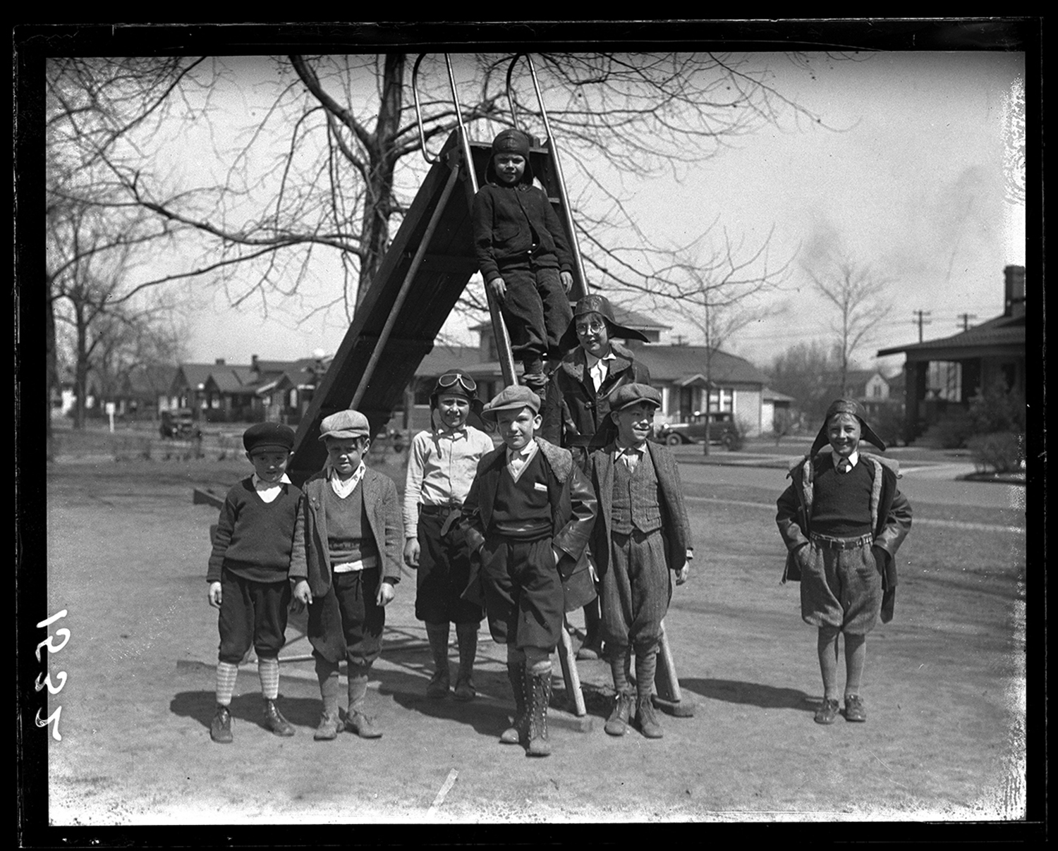 Boys on playground with slide, ca. 1930. File/The State Journal-Register