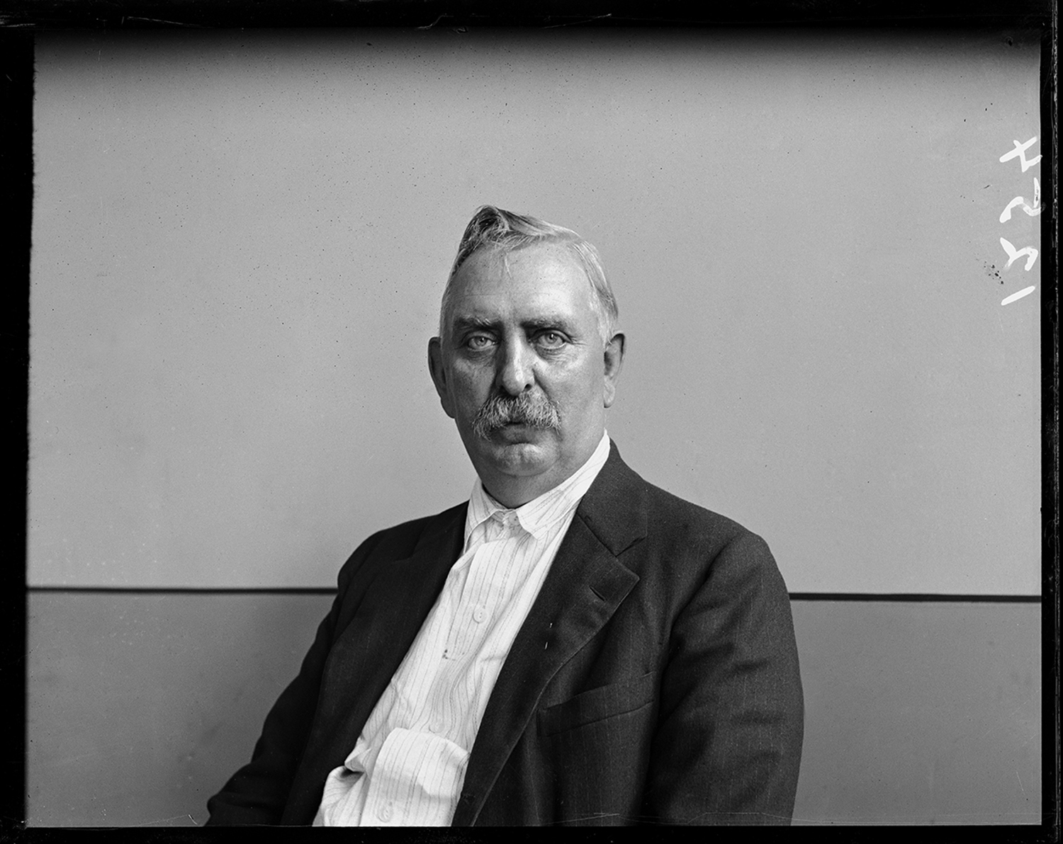Portrait of unidentified man taken in the Illinois State Journal office, date unknown. File/The State Journal-Register
