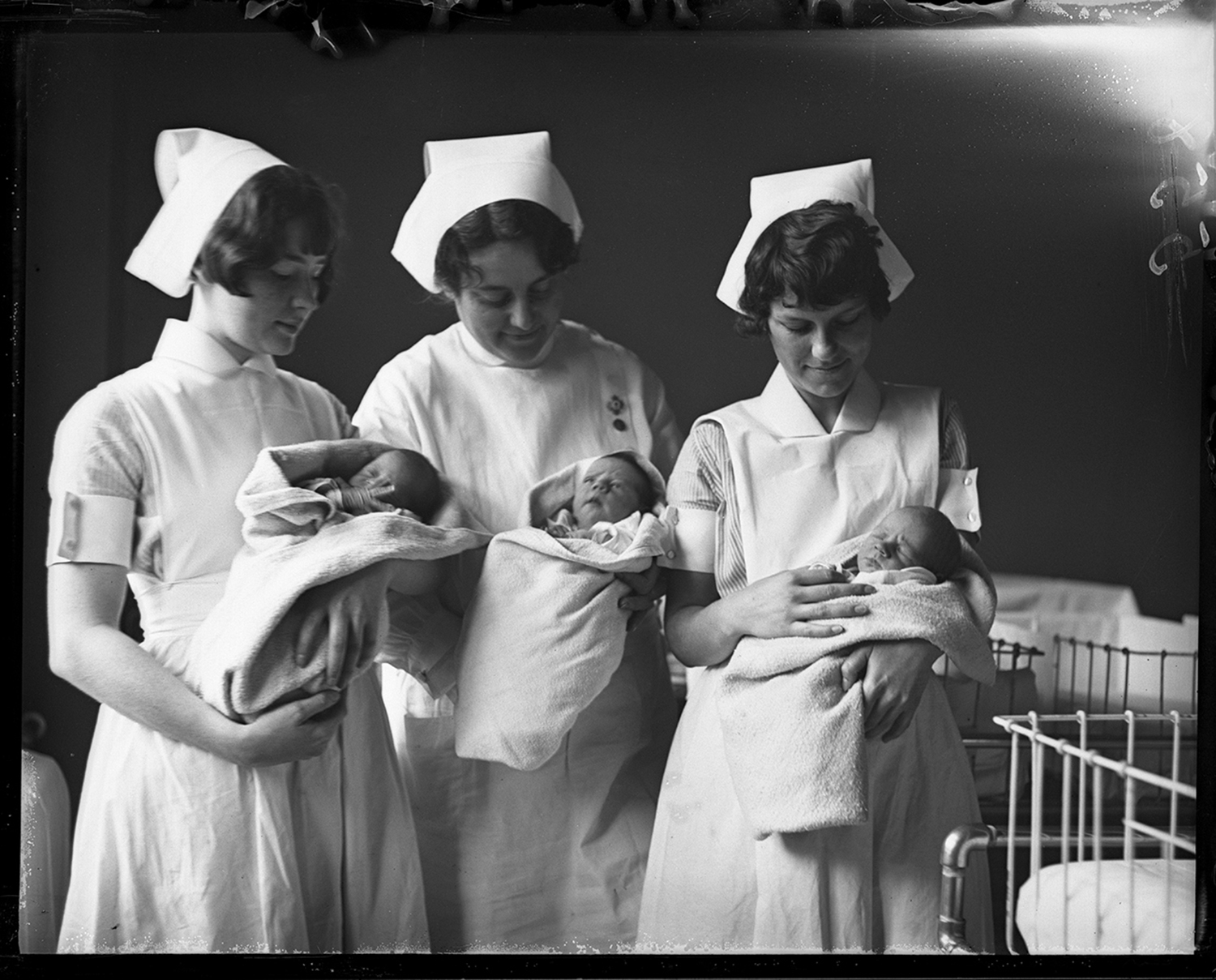 Triplets born to Mr. and Mrs. Lyman Atterberry of Petersburg at St. John's Hospital, two girls and a boy, August 21, 1930. File/The State Journal-Register