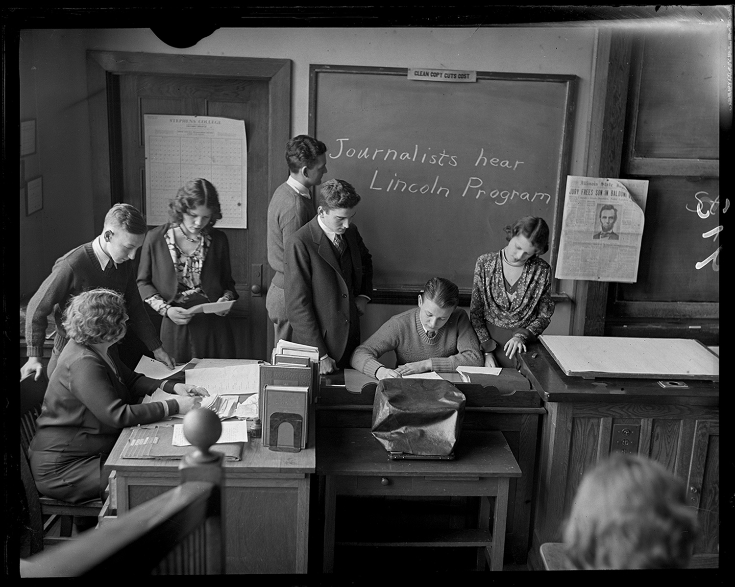 Springfield High School students, circa 1930. File/The State Journal-Register