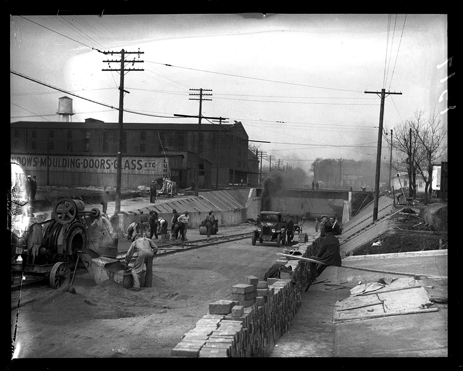 South Grand Avenue underpass construction, 10th and South Grand Ave., looking west from 11th Street, Nov.1931. File/The State Journal-Register