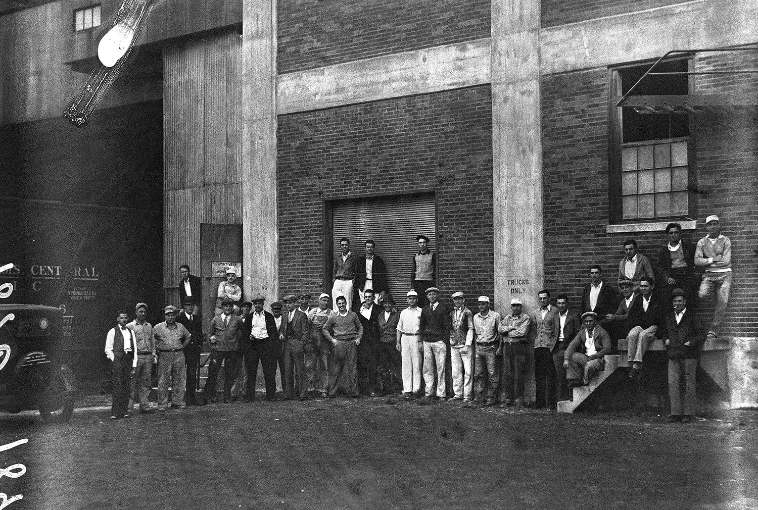 Pillsbury employees gather outside the plant around 1932. File/The State Journal-Register
