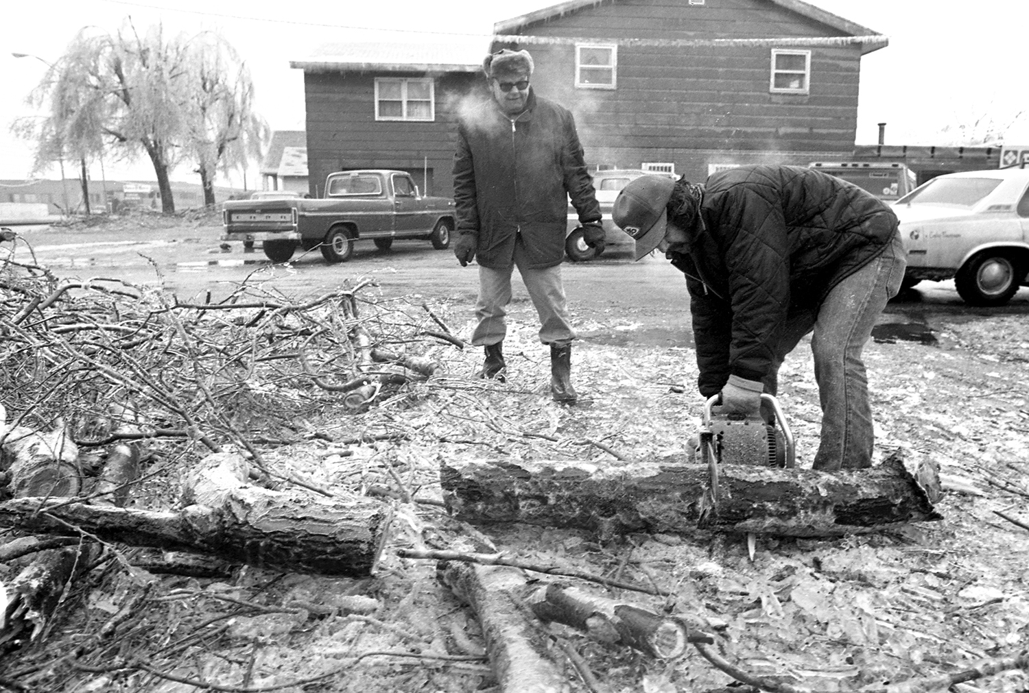 The sound of chainsaws was everywhere for days after the ice storm passed. Nearly everyone with trees on their property had branches on the ground.
