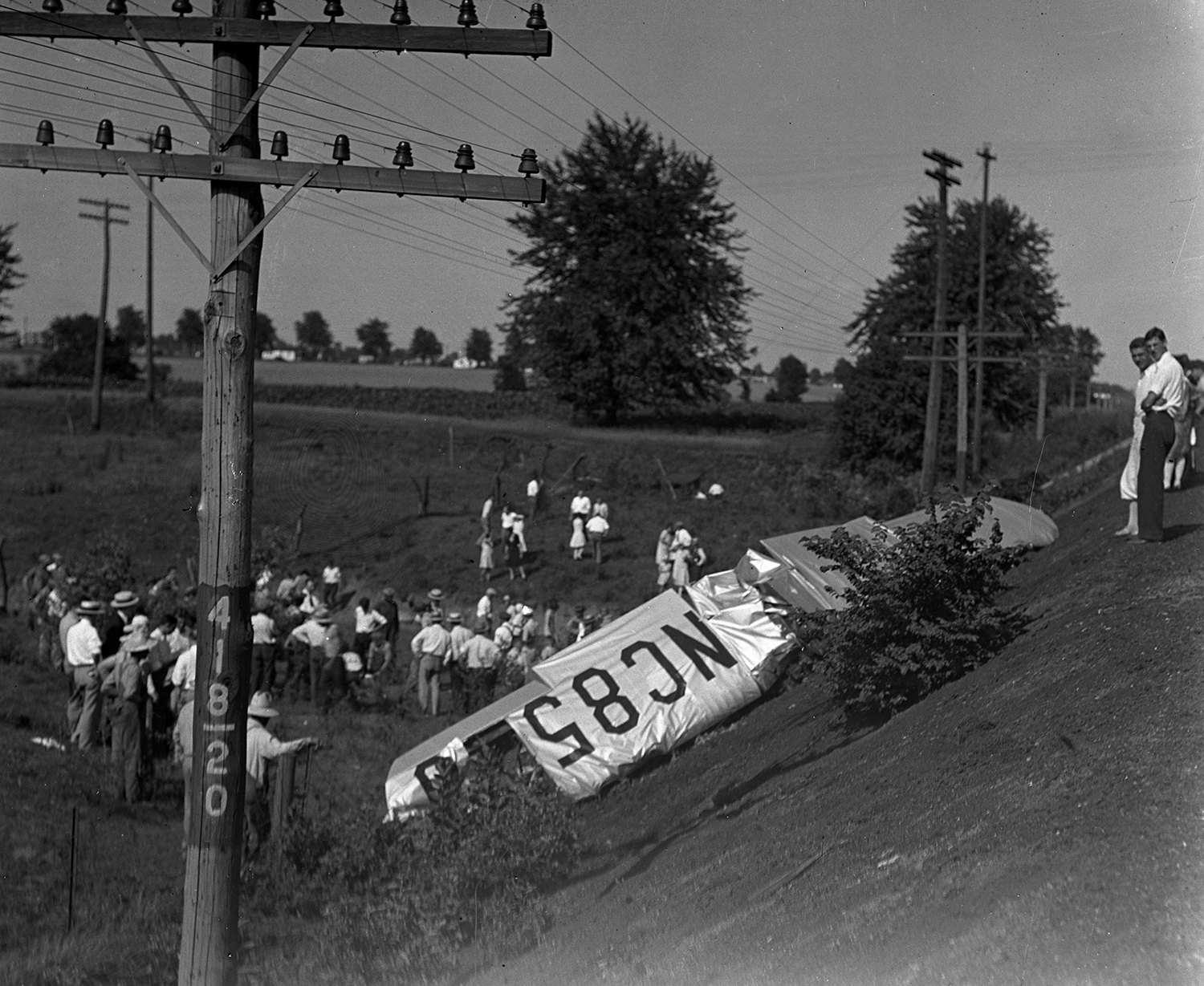 Two were killed when a planed crashed into a railroad embankment on the south edge of the municipal airport, June 28, 1930. File/The State Journal-Register