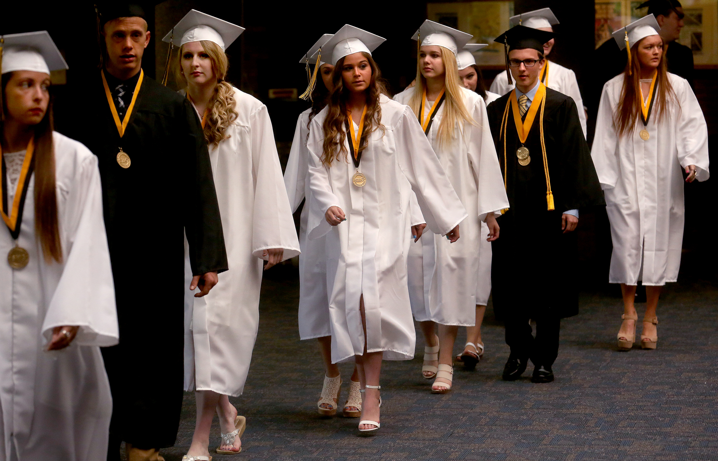 Students processed on Sunday. David Spencer/The State Journal-Register