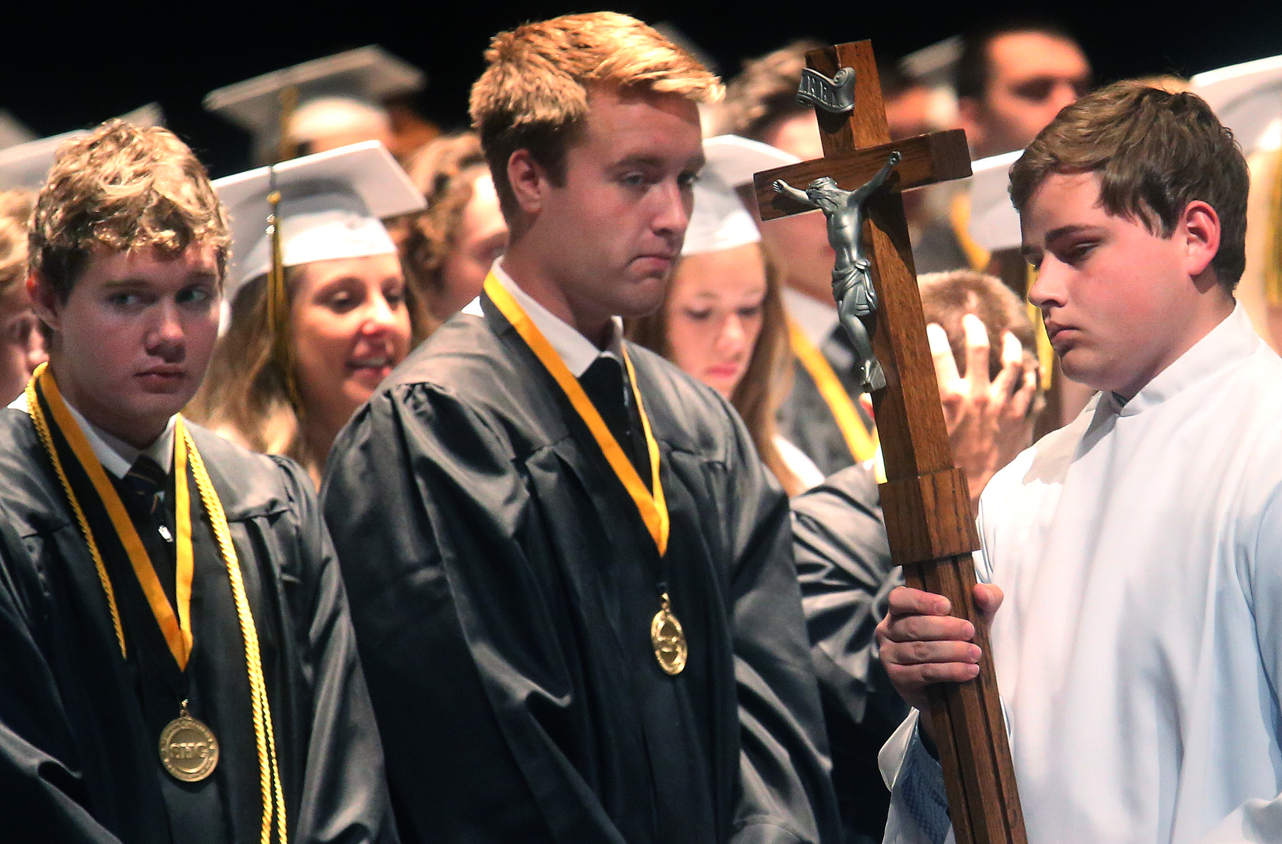 Mass was celebrated before the students received their diplomas. David Spencer/The State Journal-Register