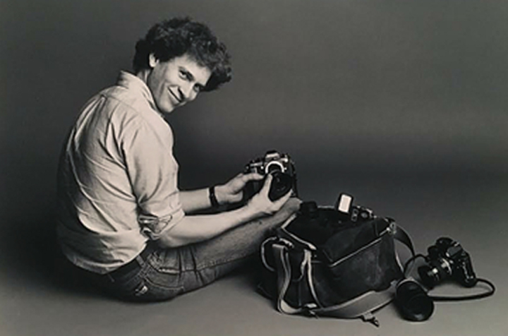 As a student at Syracuse University around 1982. Photograph courtesy Ken Lambert