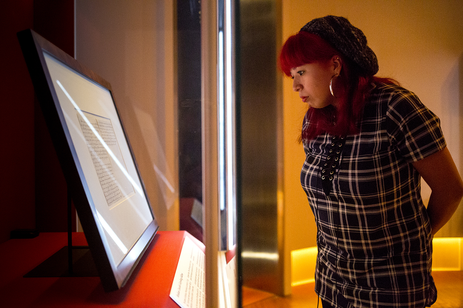 """""""Lincoln was my favorite president,"""" Maritza Cazares said while viewing a copy of the Gettysburg Address on display at the Abraham Lincoln Presidential Museum Monday, Nov. 13, 2017. """"I don't think I'll ever forget this experience,"""" she added, impressed by the historic document written by Lincoln himself. The address will be on display until Nov. 26 and is part of the Lincoln Presidential Library's plans to observe the  anniversary of the speech given by Lincoln on Nov. 19, 1863 at the dedication of a cemetery for soldiers killed in the Battle of Gettysburg in Pennsylvania.  [Rich Saal/The State Journal-Register]"""