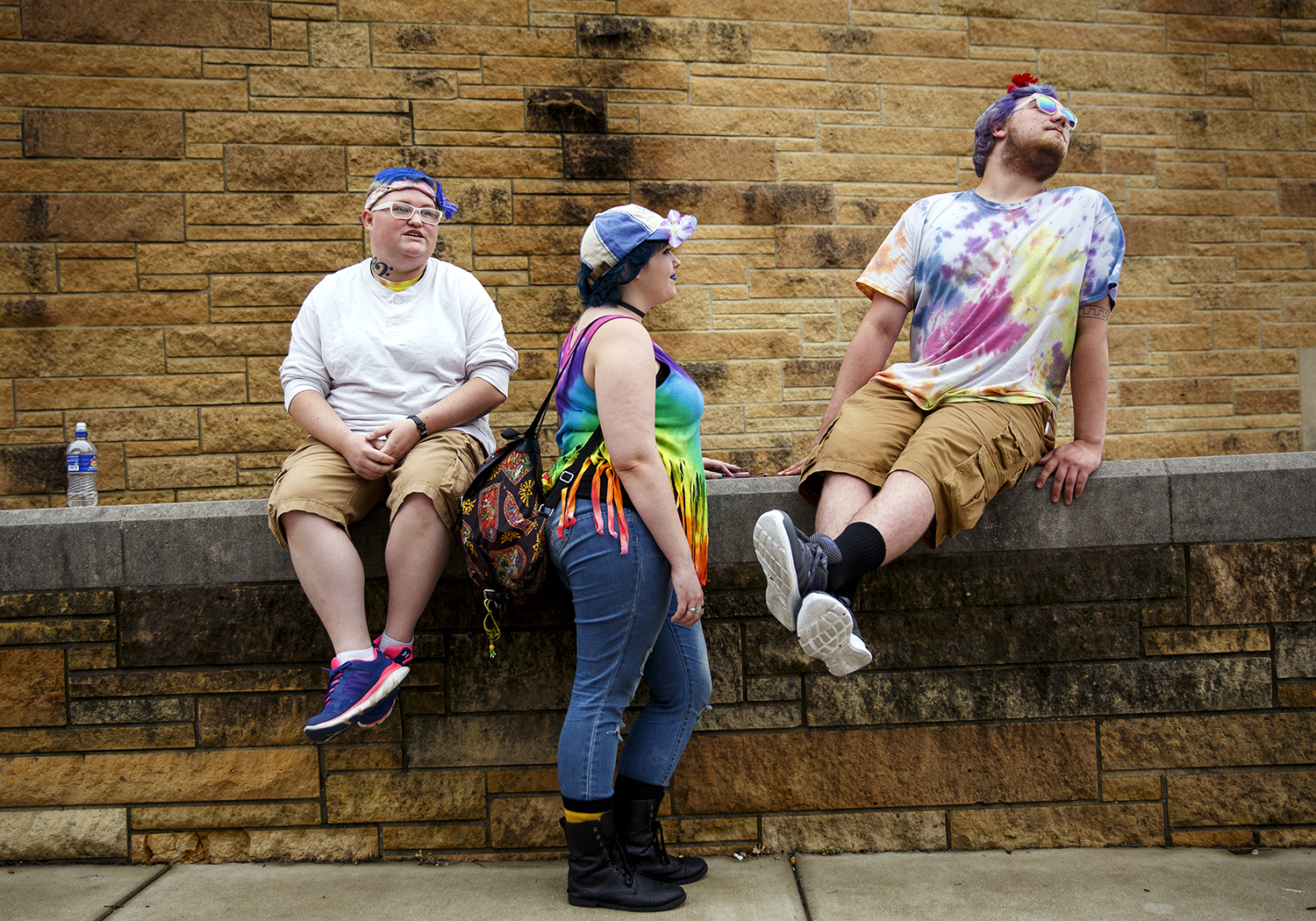 Breanna Fromm, left, Kaysi Vice and Austyn Stiner attended Springfield PrideFest May 20. For the first time, this year's festival included a parade. Rich Saal/The State Journal-Register