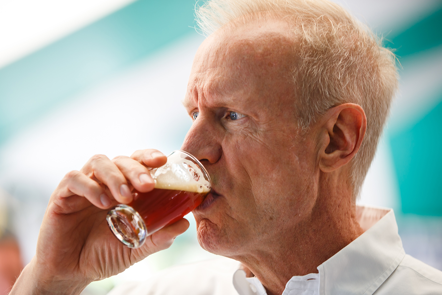 Gov. Bruce Rauner samples the Abe's Ale from Rolling Meadows Brewery during the Illinois Bicentennial Craft Beer Competition at the Illinois State Fair Aug. 13. Justin L. Fowler/The State Journal-Register