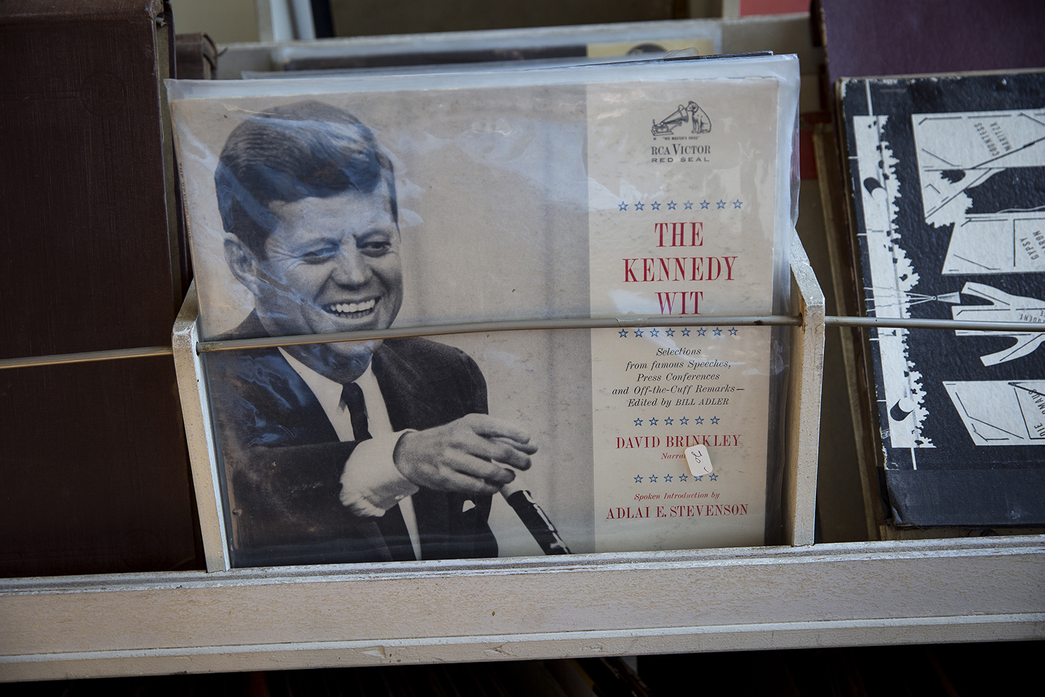 A collection of speeches by President John F. Kennedy in the rack Thursday at Recycled Records. [Rich Saal/The State Journal-Register]
