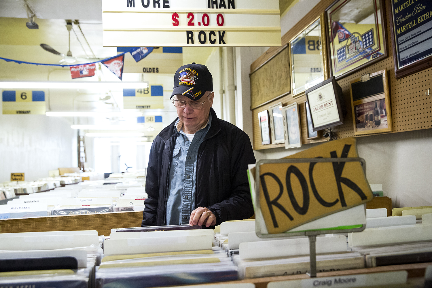 Jerry Cross began buying albums at Recycled Records when it was still Springfield Furniture, which was owned by Mark and Gary Kessler's parents. The brothers began selling used record albums there in 1978. Cross, who is from Jacksonville, says he used to take his teenage sons there to shop for music. [Rich Saal/The State Journal-Register]