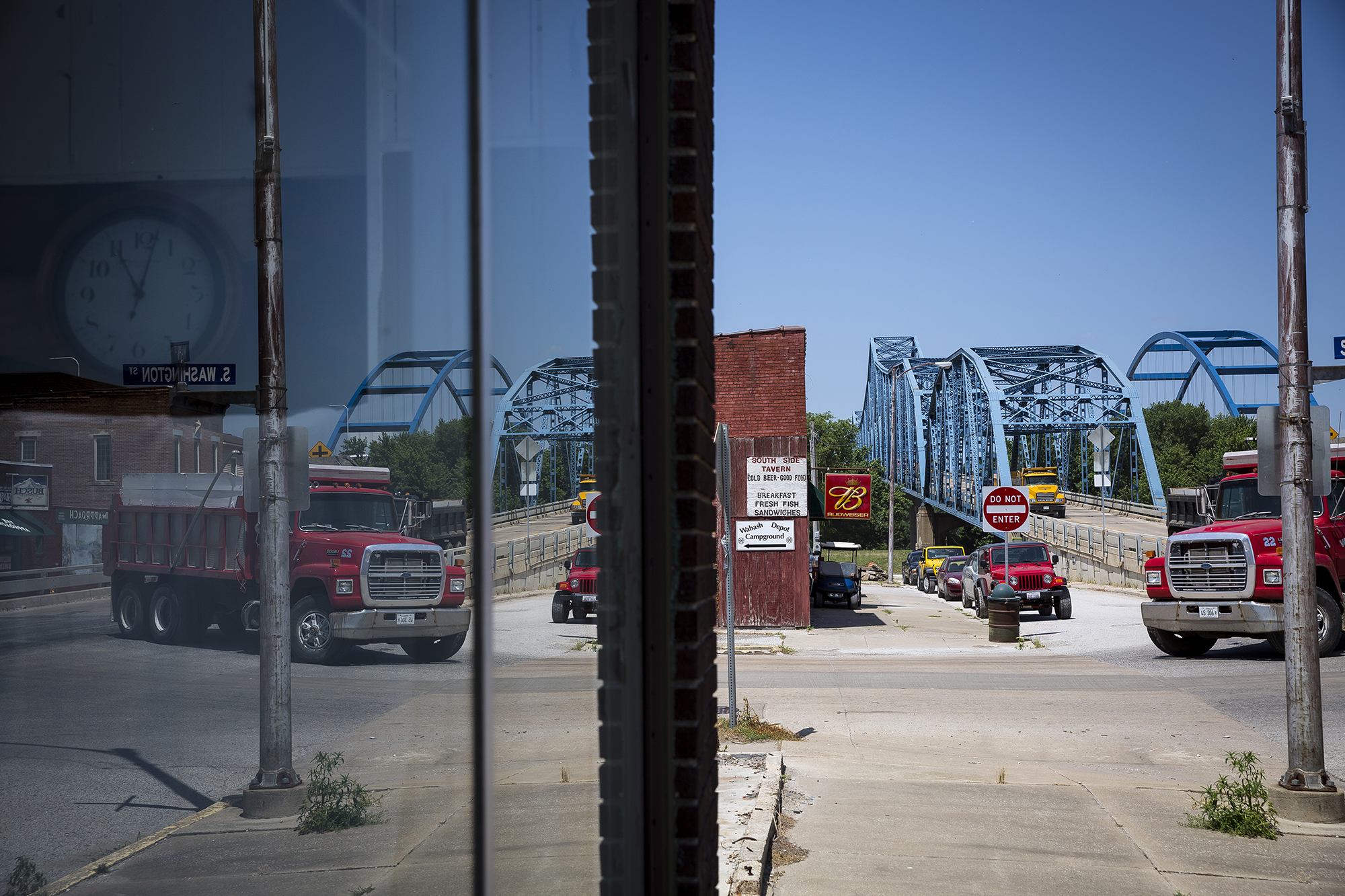 The closure of the old Illinois 104 bridge will change the character of the Meredosia business district on Main Street, where many of the businesses were just a few feet from the bridge ramp.[Rich Saal/The State Journal-Register]