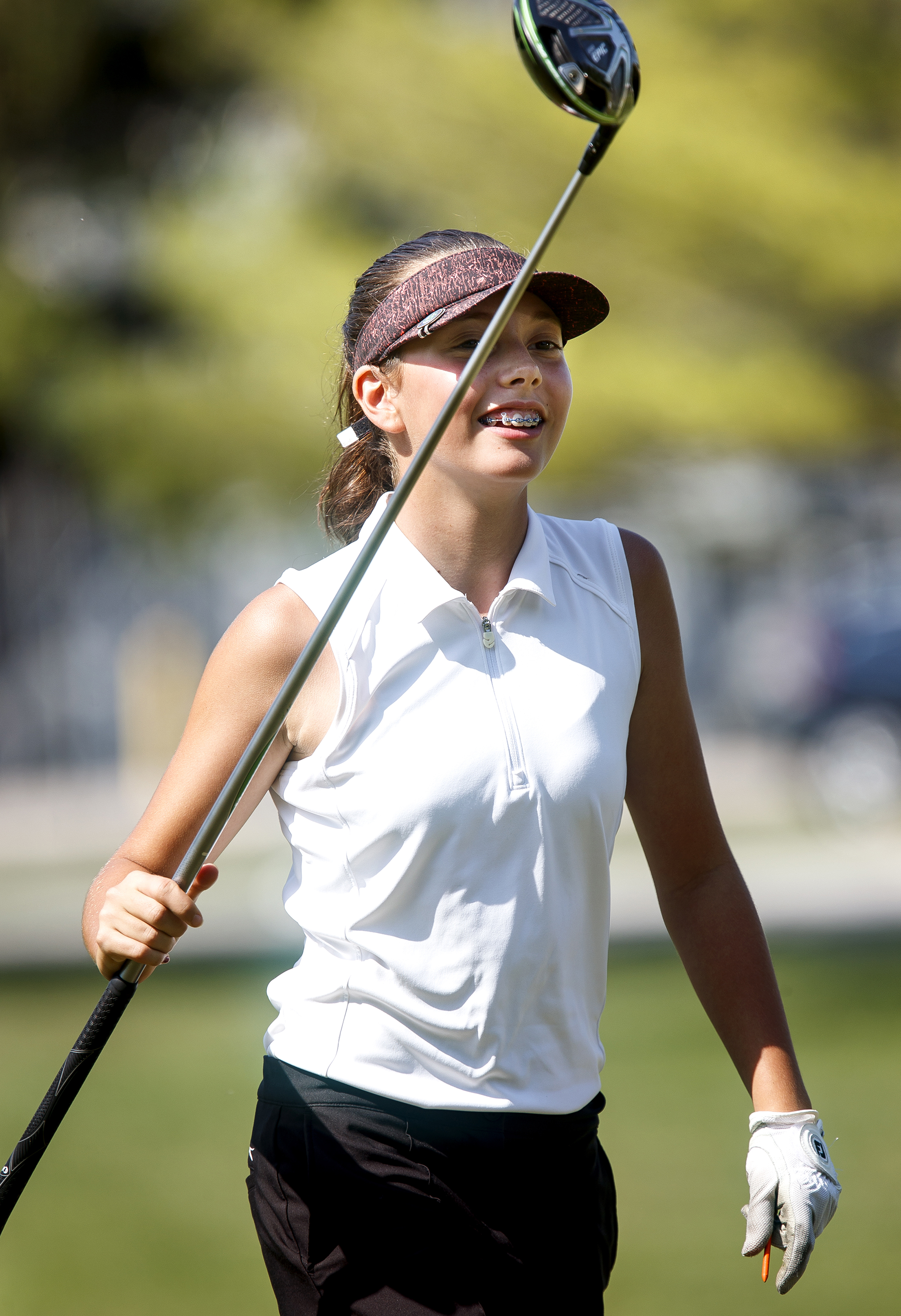Cantrall's Catalina Easley defeated ChathamÕs Ellissa Warren 4 up 3 to win the girls 11-13 championship Thursday, July 12, 2018 in the Drysdale Junior Golf Tournament Golf at Bergen Golf Course Course in Springfield, Ill. [Rich Saal/The State Journal-Register]