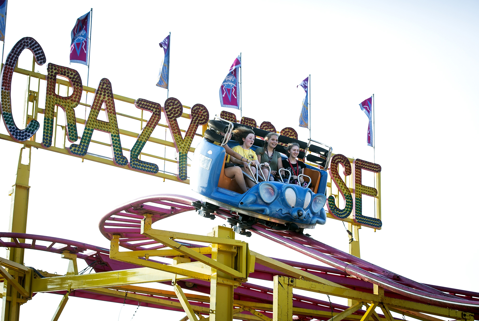 the Magic Mouse roller coaster is a new feature in the carnival this year at the Illinois State Fair. The ride was photographed Saturday, Aug. 11, 2018 on the fairgrounds in Springfield, Ill. [Rich Saal/The State Journal-Register]