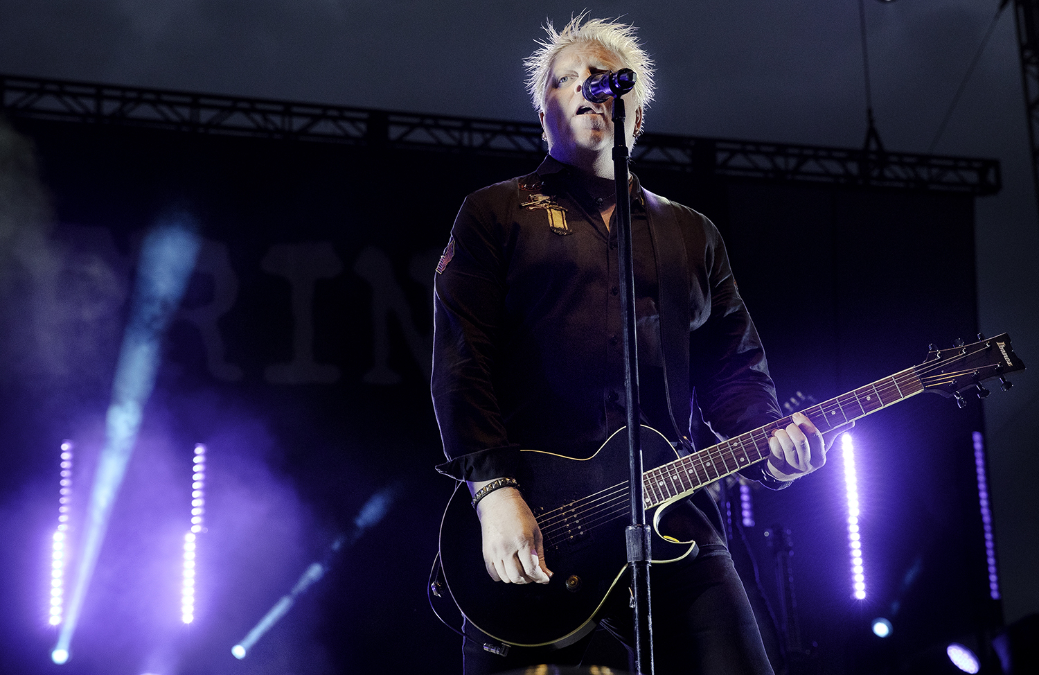 Dexter Holland performs with The Offspring at the Illinois State Fair Wednesday, Aug. 15, 2018. [Ted Schurter/The State Journal-Register]