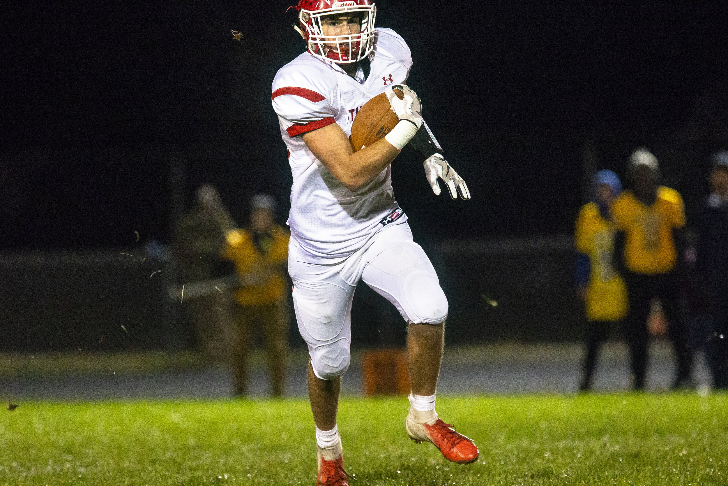 Glenwood's Tyler Burris finds an open field on the way to a touchdown Friday, Oct. 12, 2018 at Southeast High School's Spartan Field in Springfield, Ill. [Rich Saal/The State Journal-Register]