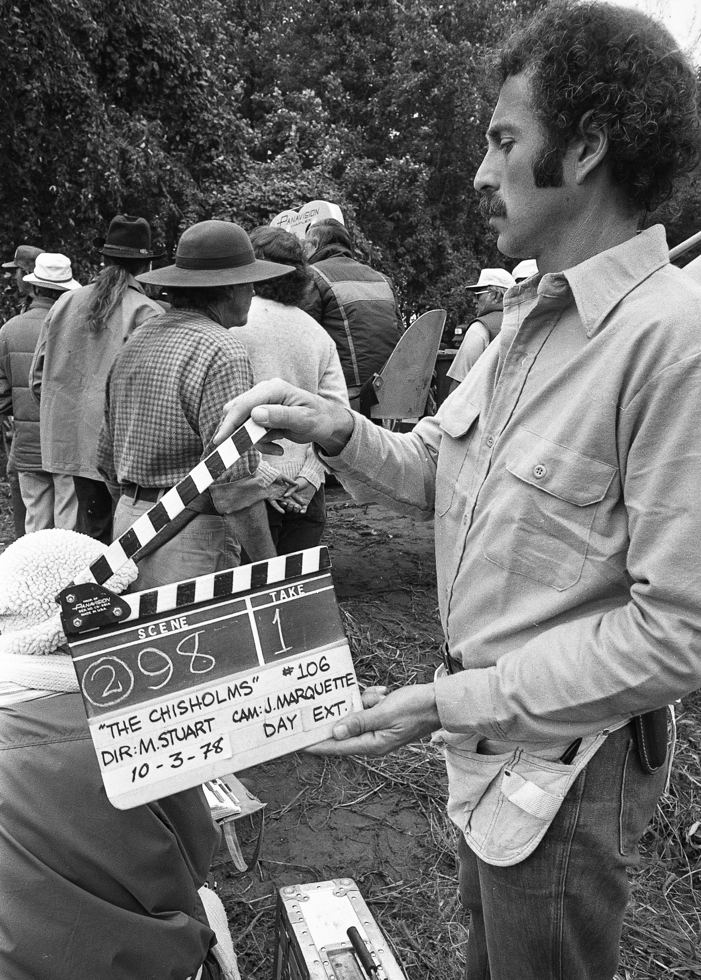 """Filming of the television mini series """"The Chisholms"""" at New Salem State Historic Site, October 2, 1978. File/Bill Hagen/The State Journal-Register"""