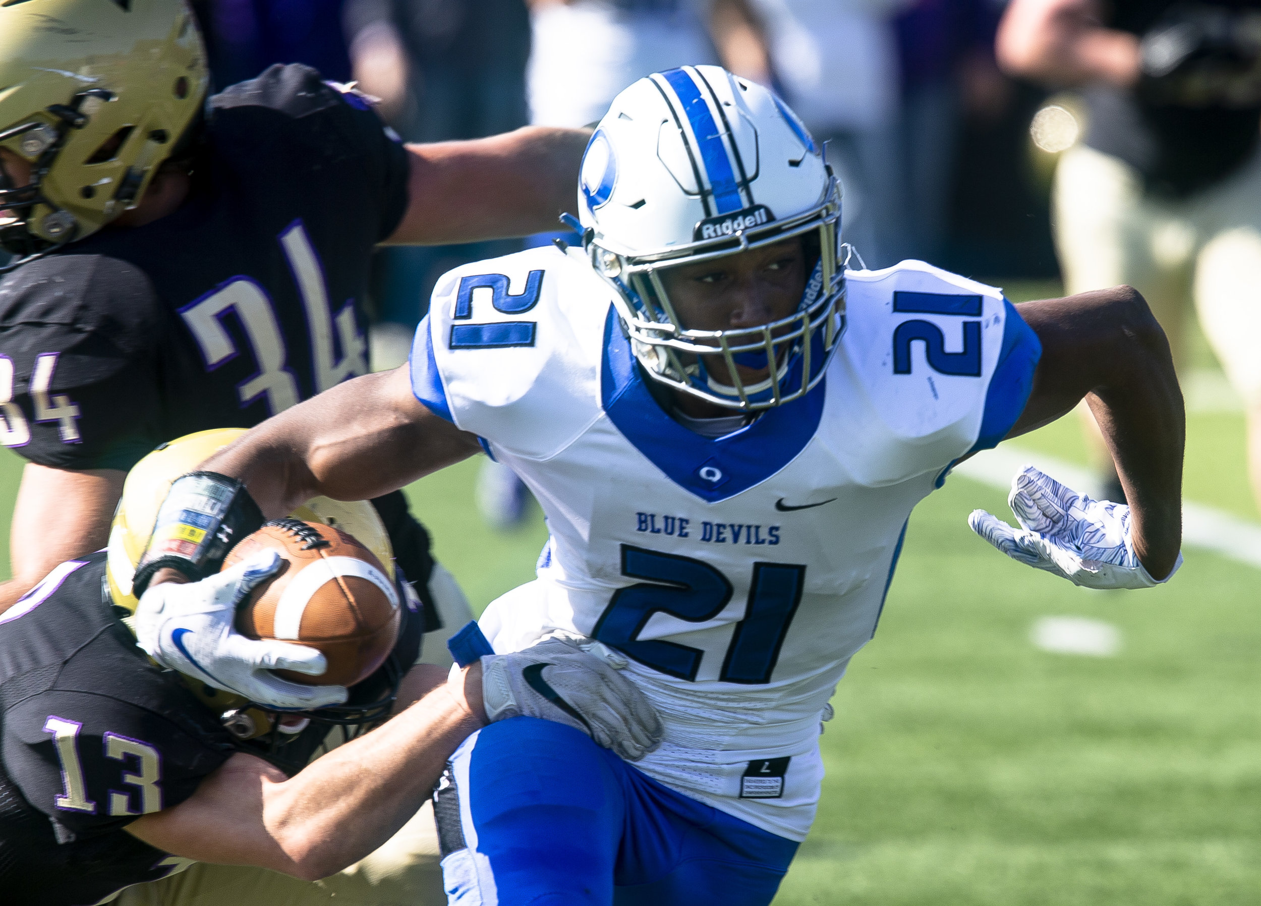 in a Class 6A playoff game Saturday, Oct. 27, 2018 at Ken Leonard Field in Springfield, Ill. [Rich Saal/The State Journal-Register]