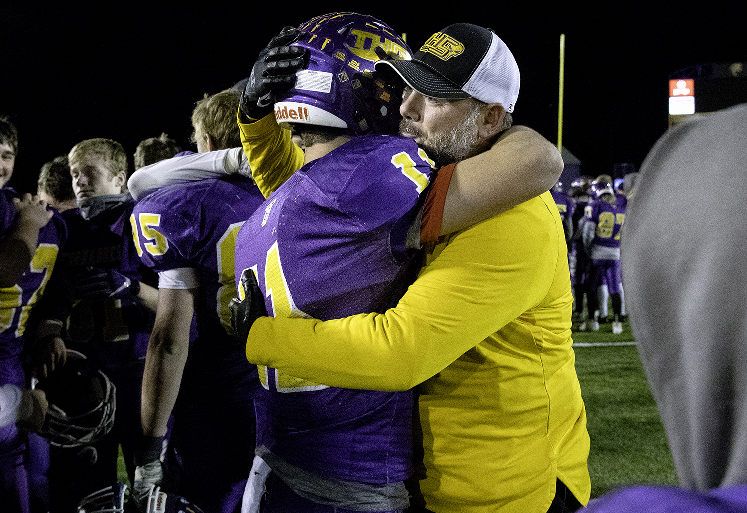 during the Class 4A quarterfinals in Taylorville Saturday, Nov. 10, 2018. [Ted Schurter/The State Journal-Register]
