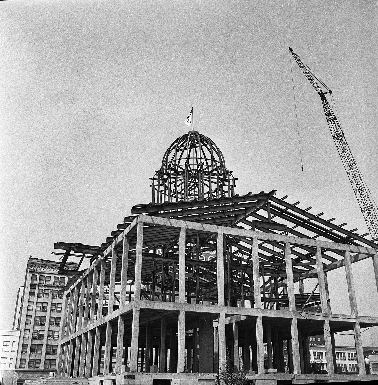 Construction of Old State Capitol, Aug. 25, 1967. File/The State Journal-Register