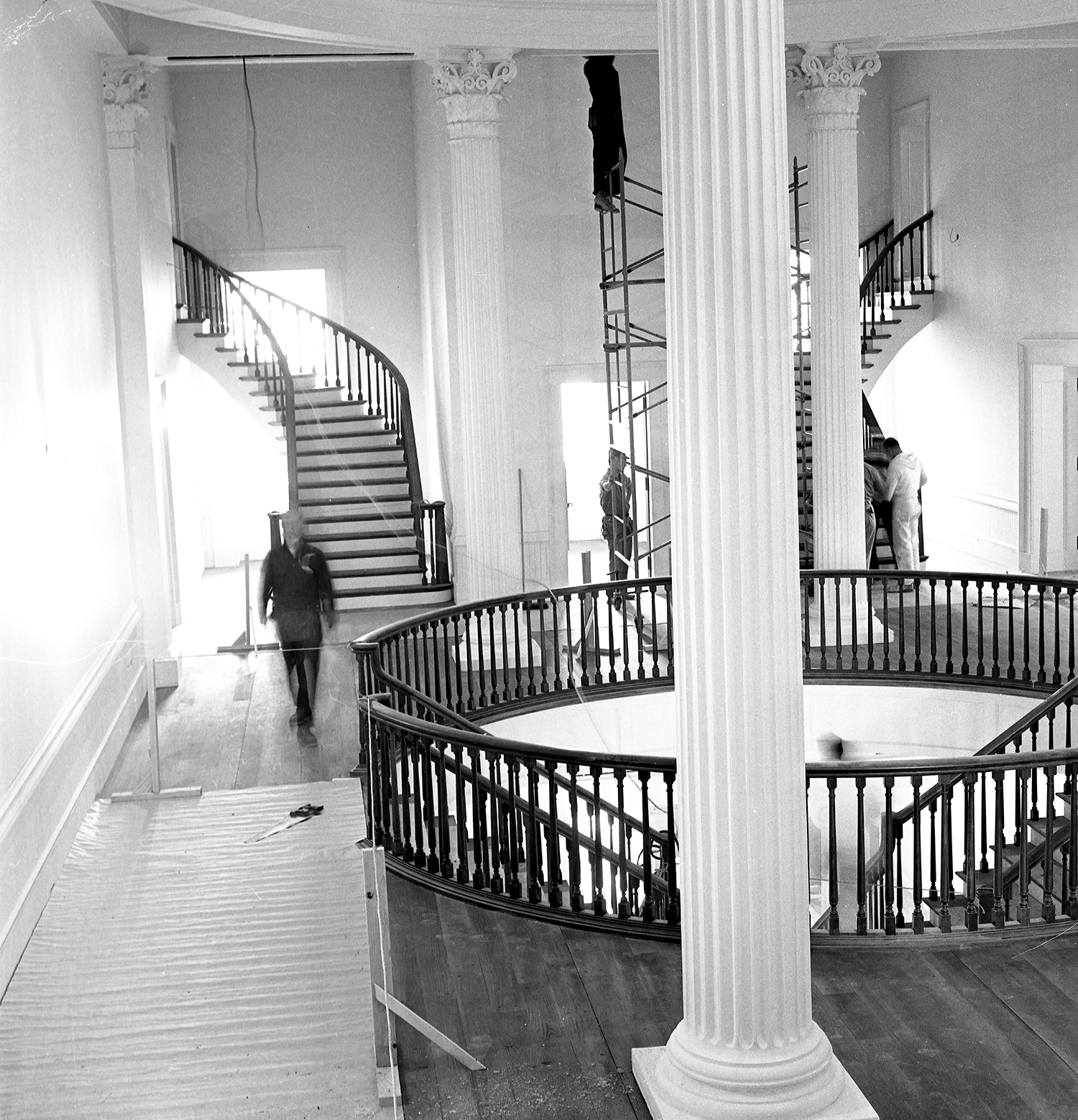 Old State Capitol State Historic Site preparations before official opening ceremony on Dec. 3, 1968. Photographed Dec. 2, 1968. File/The State Journal-Register